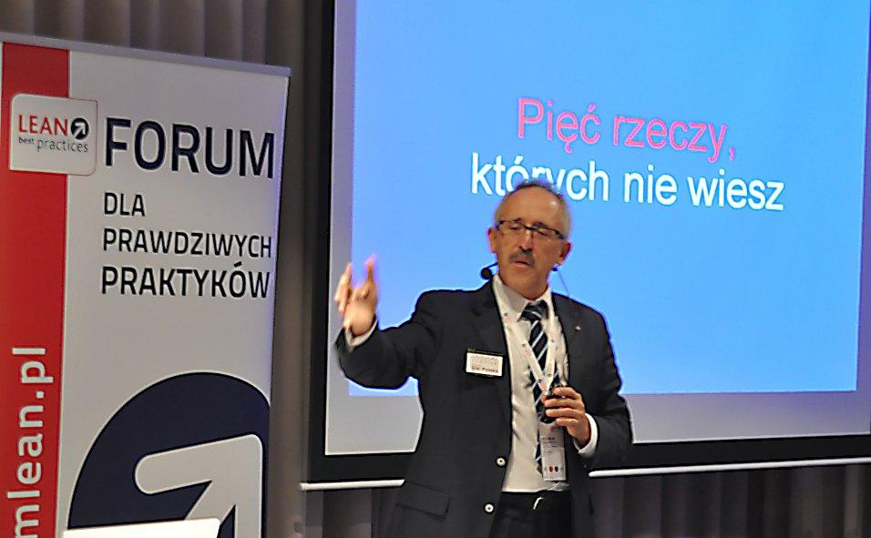 Grzegorz Turniak podczas Lean Best Practices