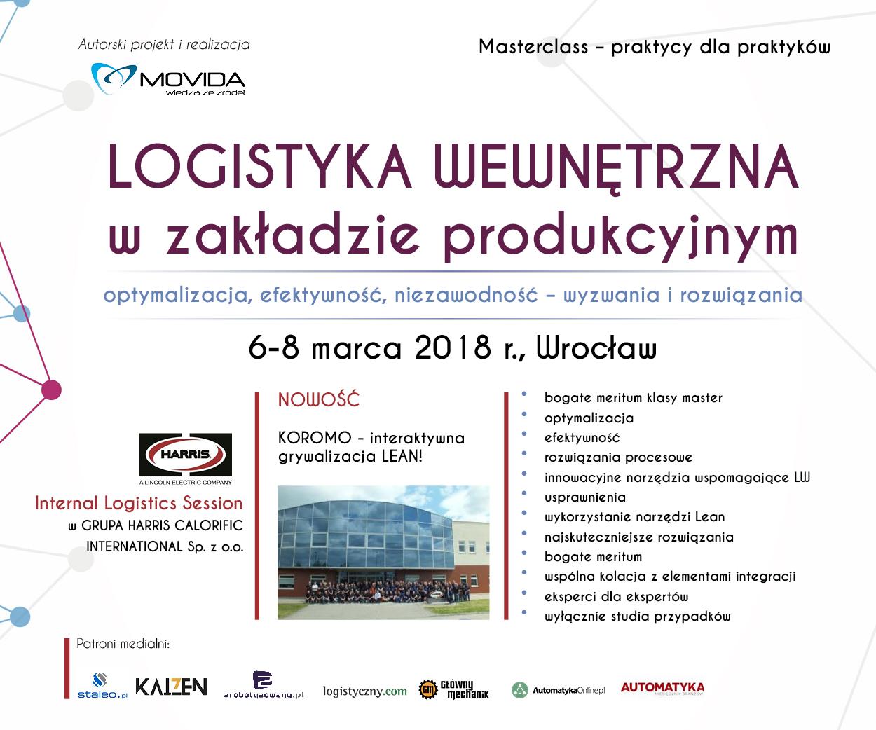 Zapowiedź konferencji Logistyka wewnętrzna