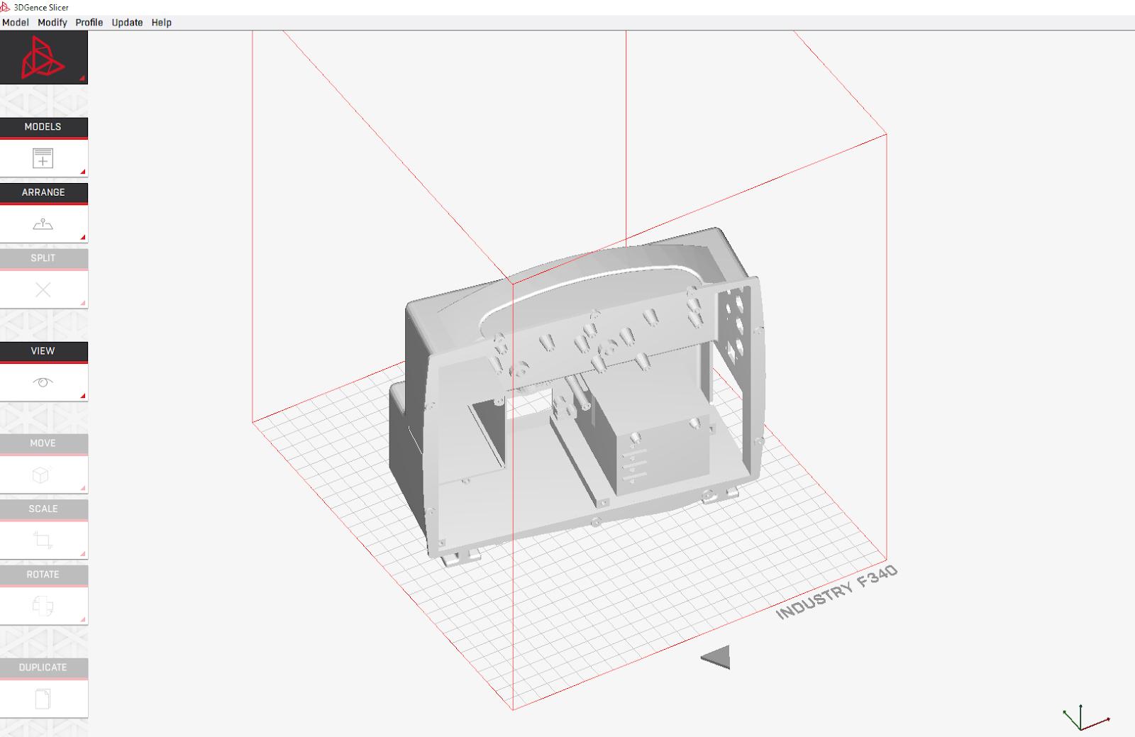 Schemat drukarki 3d
