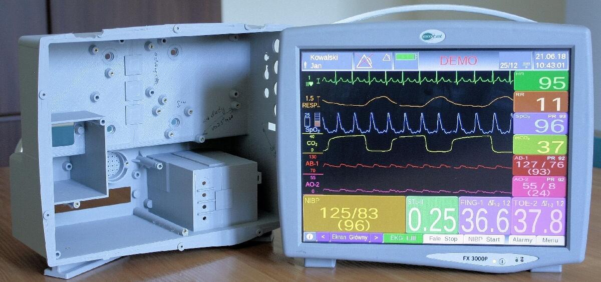 Kardiomonitor wydrukowany w3d