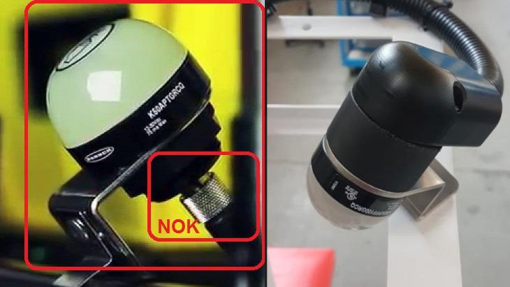 Czujnik zobudową wtechnologii 3D na maszynie