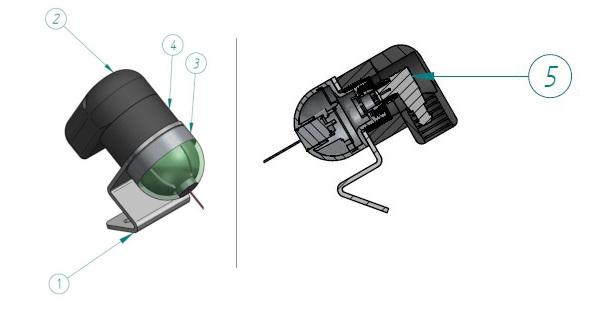 Projekt obudowy 3D do czujnika pick to light