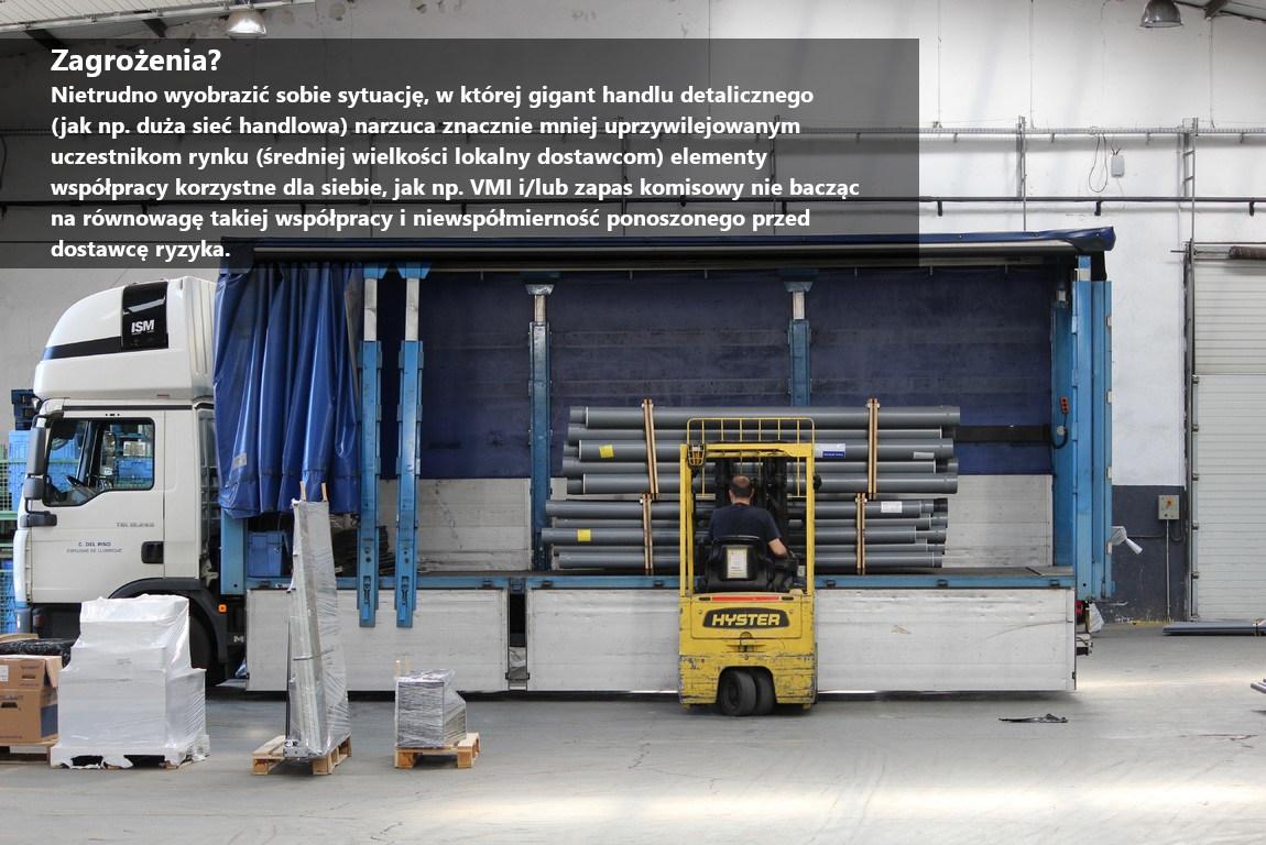 Vendor Managed Inventory - zagrożenia przeniesienia towaru wkomis