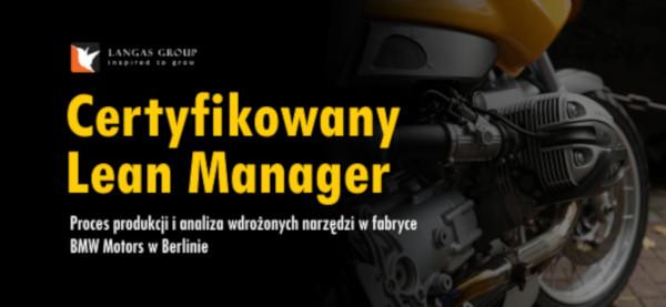 Szkolenie certyfikowanego lean managera
