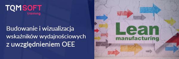 Szkolenie OEE - budowa wskaźników wydajnościowych